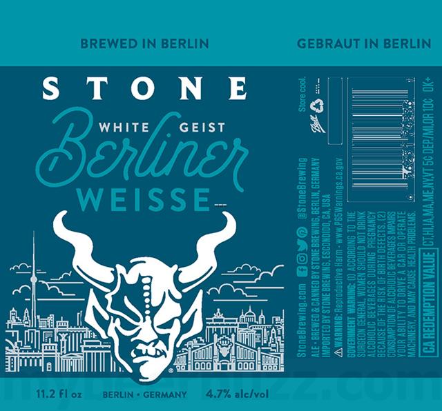 Stone Berlin - White Geist Berliner Weisse 11.2oz Cans