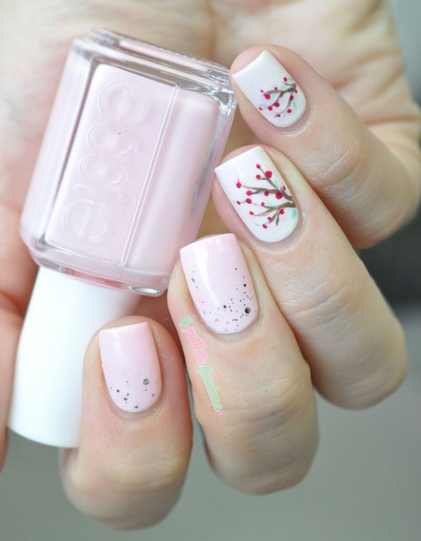 Pink And White Nails Desgins For This Season 6