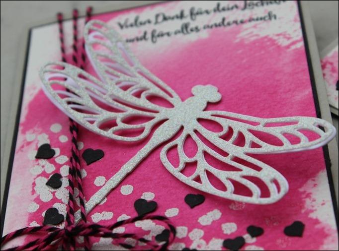 Geschenkset Stampin Up Li(e)belleien Liebelleien Libelle Schokolade Pink 01