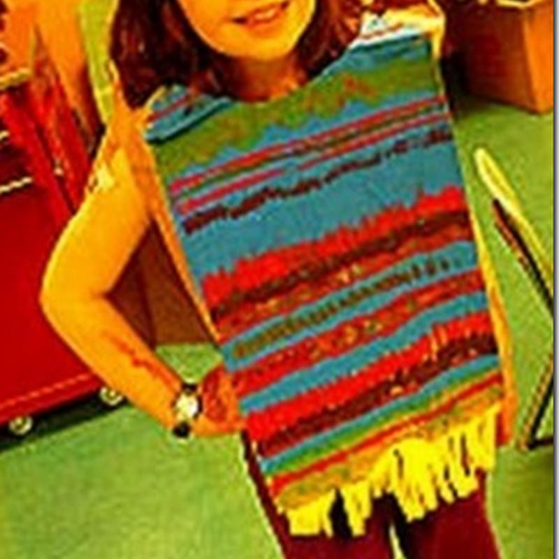 Cómo hacer poncho de mexicano con reciclados