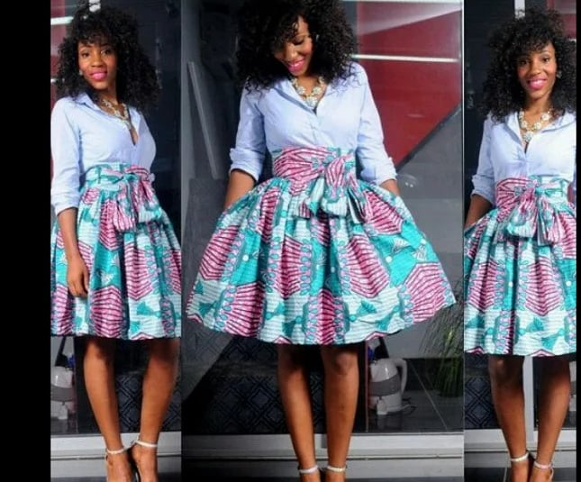 Latest Ankara Pleated Skirts Designs In South Africa 1