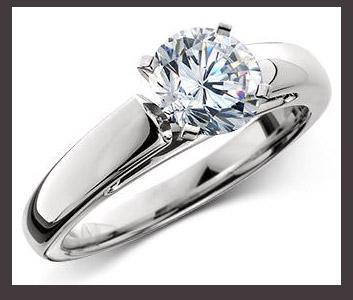 Anillo moderno con diamante