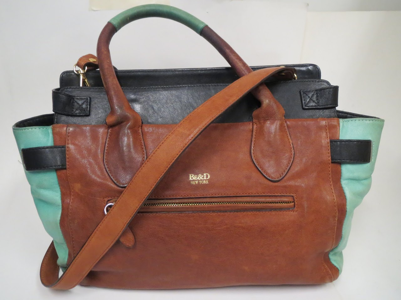 Be & D Colorblock Shoulder Bag