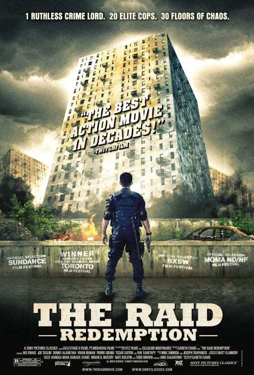 Poster Of The Raid: Redemption (2011) Full Movie Hindi Dubbed Free Download Watch Online At Alldownloads4u.Com
