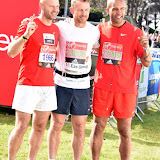 OIC - ENTSIMAGES.COM - Clarke Carlise, Danny Mills and Gary Rowett at the  Virgin Money London Marathon on Blackheath in London, England. 24th April 2016 Photo Mobis Photos/OIC 0203 174 1069