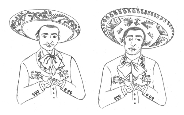 Mariachi Drawing I had to draw mariachis a