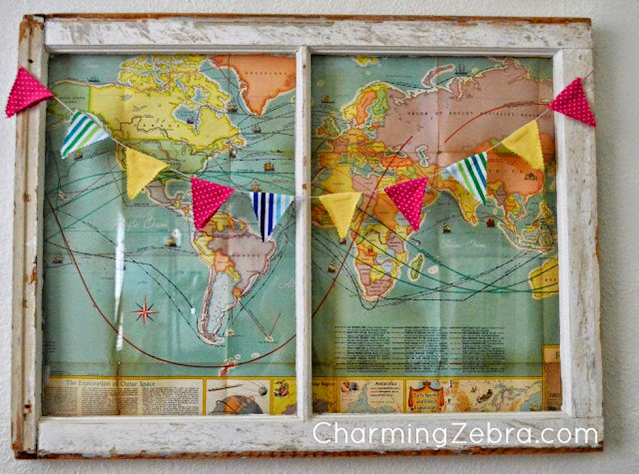 old window frame map