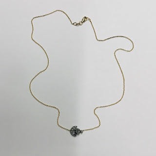 14K Gold Chain with Diamond Pendant