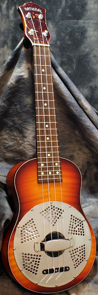 National Reso-Phonic sunburst maple Concert Ukulele