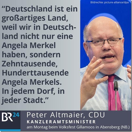 Altmaiers Merkel Hommage
