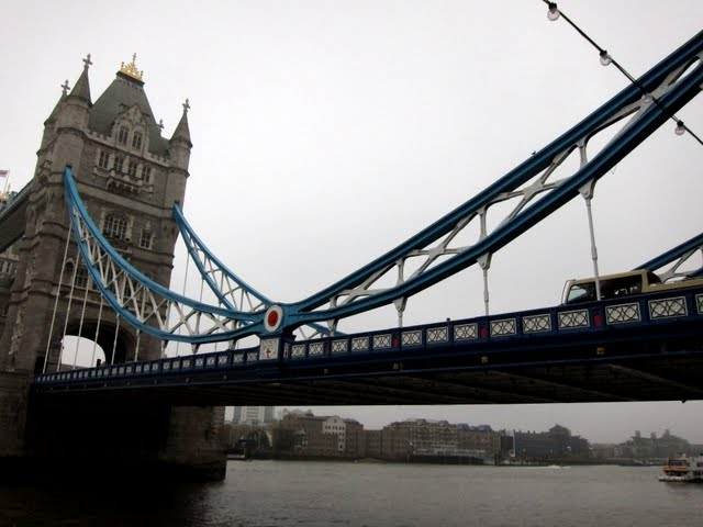 South side of Tower Bridge in London