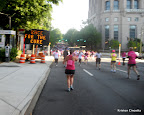 My view, mid-race. Pardon the blur, I was running as I took this.
