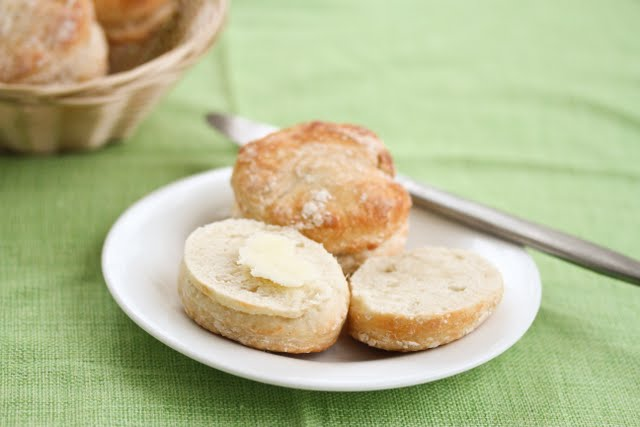 photo of two biscuits on a plate