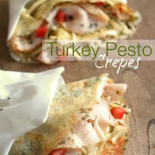 Turkey Pesto Crepes.