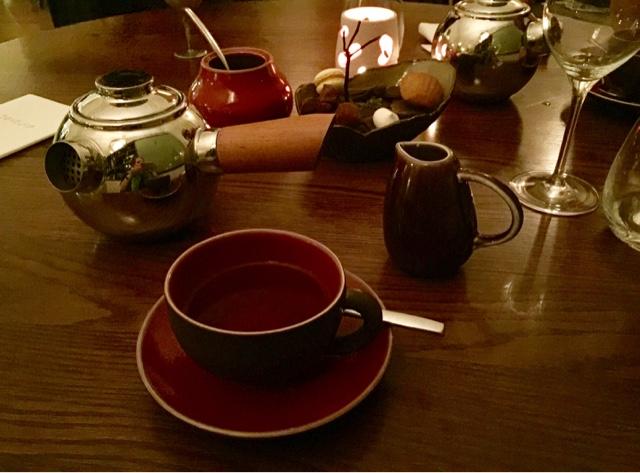 Texture restaurant dessert with tea