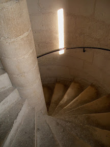 A staircase in Notre Dame