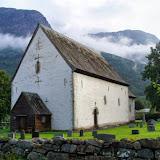 Het kerkhof in Kinsarvik.