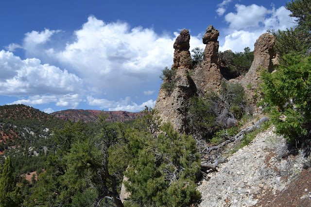 towers of composite rock