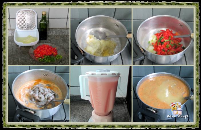 Sopa creme de camarão 4