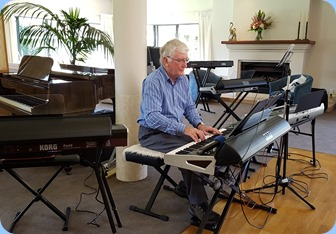 Gordon Sutherland playing his Korg Pa4X.