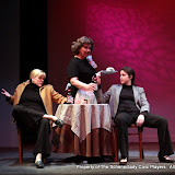 "Cristine M. Loffredo, Susan Katz and Jennifer Van Iderstyne in ""The Philadelphia"" as part of THE IVES HAVE IT - January/February 2012.  Property of The Schenectady Civic Players Theater Archive."