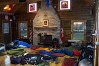 The gathering/sleeping room