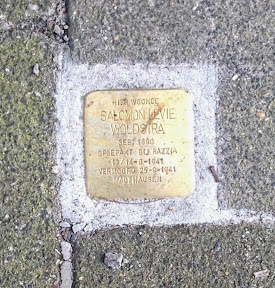 Salomon Levie Woudstra - Minister Loudonlaan 1a - Stolperstein Enschede.