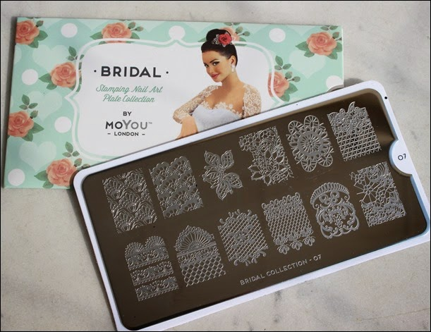 Stamping Palette Plate Moyou Bridal Collection 07