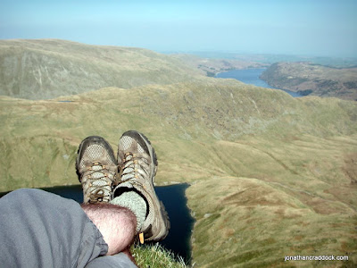 Resting feet on Mardale Ill Bell