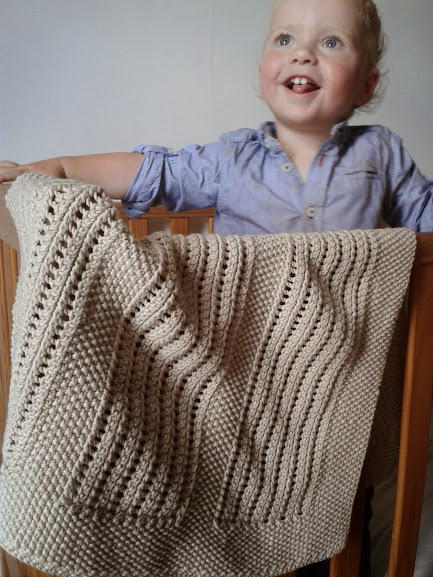Free Knitting Pattern Moss And Lace Rib Baby Blanket Turners Cloth