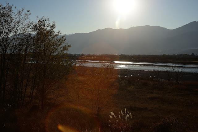 ニコンD610 身近な風景 釜無川 土手 山梨