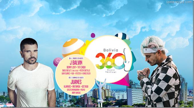 Agosto 2017: Concierto de Juanes y J Balvin en Bolivia