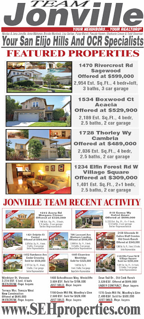 Jonville Team sells San Elijo Hills Real Estate
