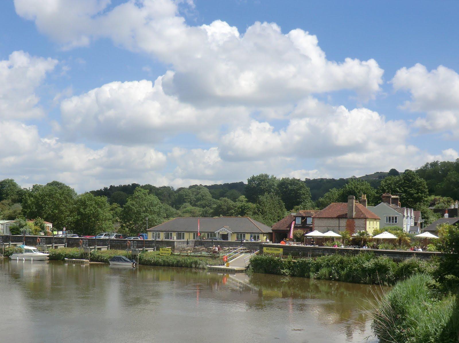 CIMG8813 River Arun at Houghton Bridge