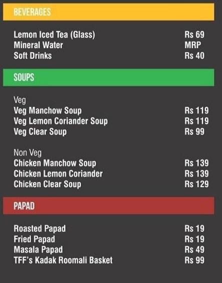 The 1st Floor menu 5