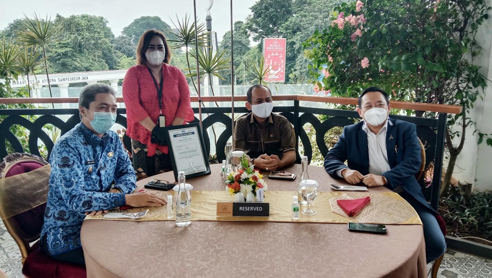 Wakil Walikota Bogor Apresiasi Pencapaian Sertifikasi CHSE di Hotel Amaroossa Royal Bogor