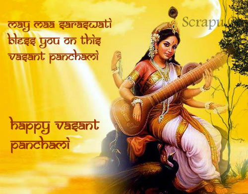 Vasant-Panchami picture Wish you a very Happy and Blessed Vasant Panchami