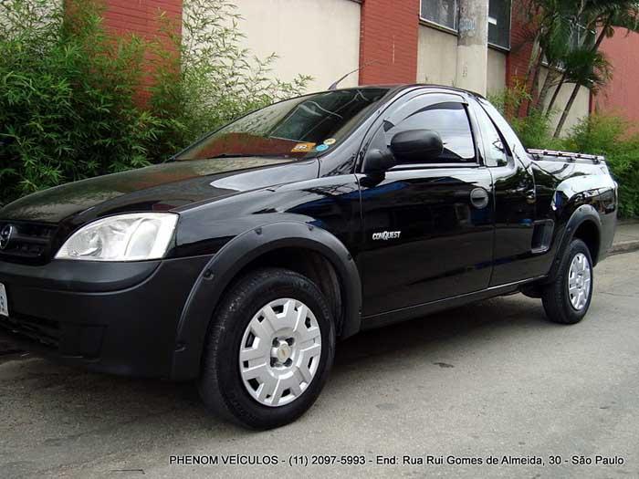 Chevrolet Montana Conquest Flex 2007 Preta