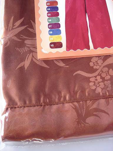 กางเกงแพรจีนแท้รุ่นเอวยาง สีน้ำตาลทอง (กางเกงผู้ชาย กางเกงนอนผู้ชาย )