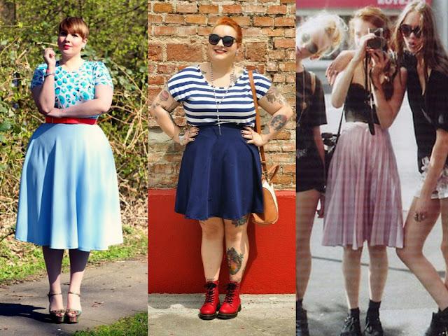 Tendência- Cintura Alta! Blog Insaturada! Exemplos de looks com saias!
