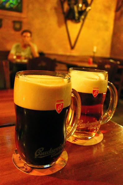 prague beer budweiser