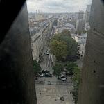 Église Notre-Dame-de-la-Croix de Ménilmontant : clocher, escalier nord, vue sur la rue Etienne Dolet