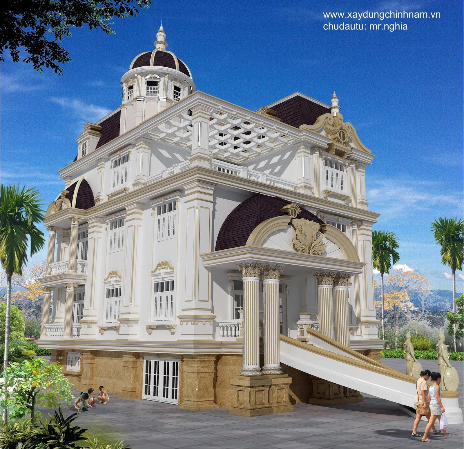 Thiết kế biệt thự nhà anh Nghĩa - Biên Hòa, Đồng Nai