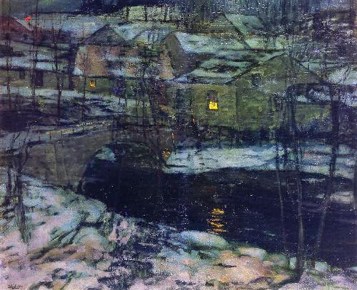 Walter Elmer Schofield - Winter Landscape