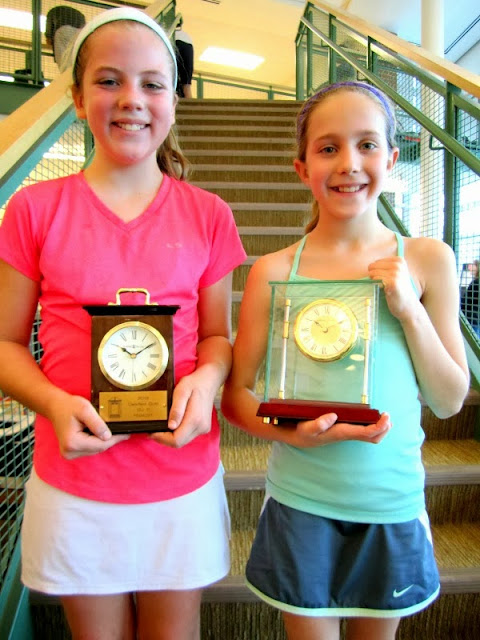 GU 11 round robin: Overall finalist Margaux Comai, from Haverford, PA, and winner Brecon Welch, from Greenwich, CT