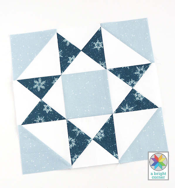 star quilt block from the Clear Sky quilt pattern by A Bright Corner