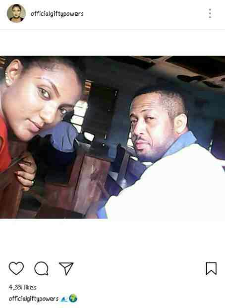 Gifty and Mike Ezuruonye pictured on Movie set