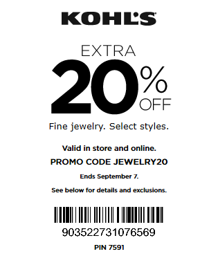 kohls coupon extra 20 off fine jewelry
