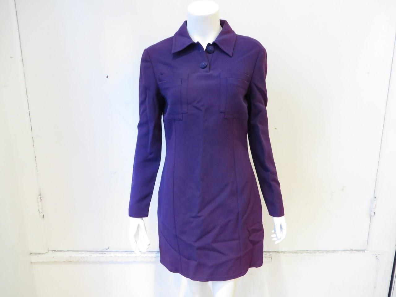 Versace 90's Jeans Couture Purple Dress