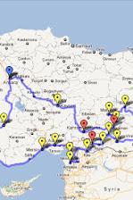 Itinerary of Southeast Anatolia Tour, Turkey.jpg